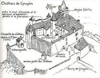 La feuille charbinoise gruy re histoire et l gendes d - Dessin d un chateau ...