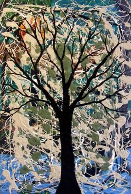 L'énergie de l'arbre - tableau de Corinne Batt-Rawden