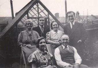 la famille Meltzer à Londres en 1938