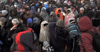 refugies bloques