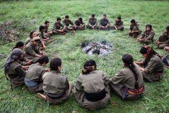 Qandil, kurdistan. La culture kurde se transmet aussi à travers le chant.